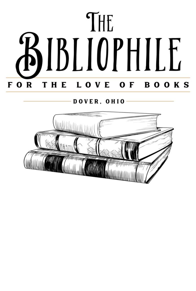 The Bibliophile Bookshop Logo Bookmark Style